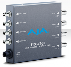 AJA FiDO-4T-ST 4-Channel 3G-SDI to Single-Mode ST Fiber Transmitter