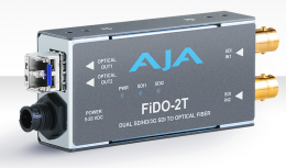 AJA FiDO-2T Dual-channel SD/HD/3G SDI to Optical Fiber