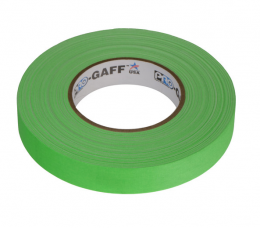 """Visual Departures Professional Gaffer Tape, 1"""" x 55 Yards, Fluorescent Green"""